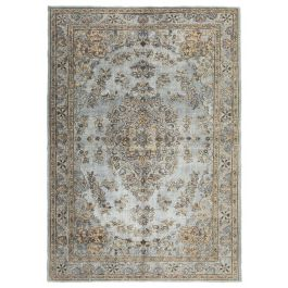 Hand-knotted Turkish Grey Contemporary Overdyed Carpet