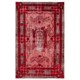 Hand-knotted Oriental Red Antique Carved Rug