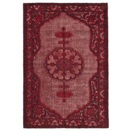 Hand-knotted Anatolian Red Rustic Overdyed Carpet