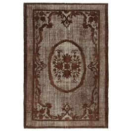 Hand-knotted Oriental Brown Decorative Overdyed Rug