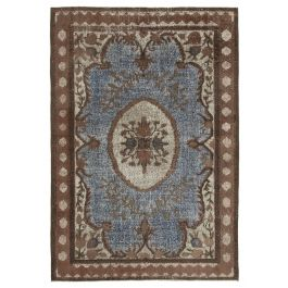 Hand-knotted Oriental Brown Antique Carved Rug