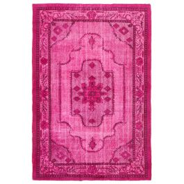 Handmade Anatolian Pink Antique Over-dyed Rug