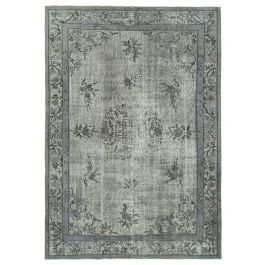 Hand-knotted Anatolian Grey Rustic Overdyed Rug