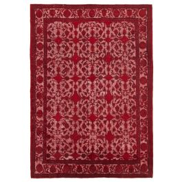 Handwoven Oriental Red Decorative Overdyed Rug
