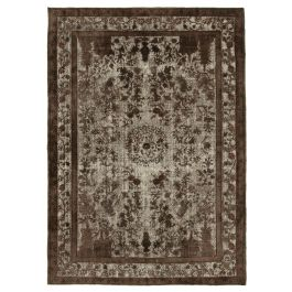 Hand-knotted Oriental Brown Traditional Carved Carpet