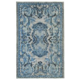 Hand-knotted Anatolian Blue Antique Overdyed Rug