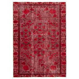 Handmade Anatolian Red Antique Over-dyed Rug
