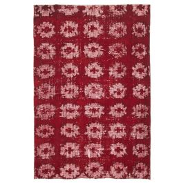 Handmade Oriental Red Decorative Over-dyed Carpet