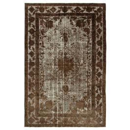 Handmade Anatolian Brown Rustic Over-dyed Carpet