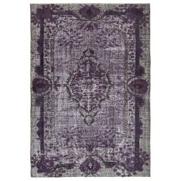 Handmade Oriental Purple Faded Over-dyed Carpet