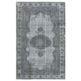 Hand-knotted Oriental Grey Faded Overdyed Carpet