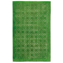 Handmade Turkish Green Unique Over-dyed Carpet