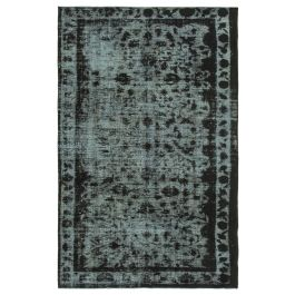 Hand-knotted Oriental Black Decorative Overdyed Rug