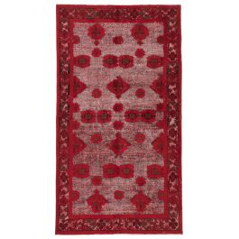 Hand-knotted Turkish Red Bohemian Overdyed Carpet