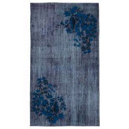 Hand-knotted Oriental Purple Decorative Overdyed Carpet