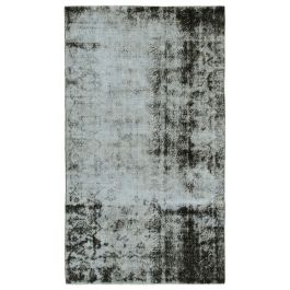 Hand-knotted Anatolian Black Antique Overdyed Rug
