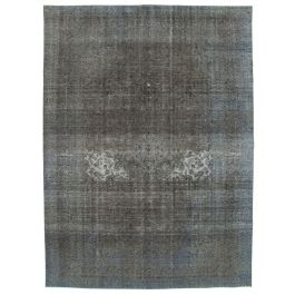 Hand-knotted Anatolian Grey Wool Large Colorful Rug