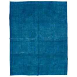 Handmade Oriental Blue Faded Large Over-dyed Rug