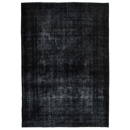 Hand-knotted Anatolian Black Rustic Large Overdyed Rug