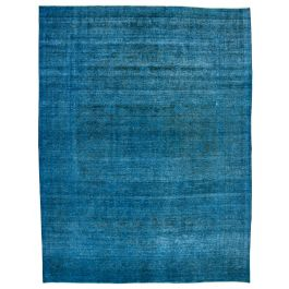 Hand-knotted Oriental Blue Decorative Large Overdyed Rug