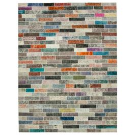 Hand-knotted Oriental Multi Large Patchwork Carpet