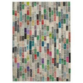 Handwoven Turkish Multi Traditional Large Patchwork Rug