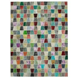 Handwoven Anatolian Multi Rustic Large Patchwork Rug