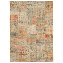 Hand-knotted Anatolian Multi Antique Large Patchwork Rug