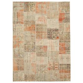 Hand-knotted Oriental Multi Faded Large Patchwork Carpet