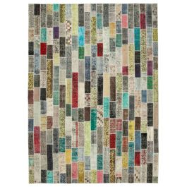 Handwoven Anatolian Multi Distressed Large Patchwork Rug