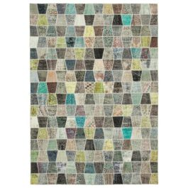 Hand-knotted Anatolian Multi Wool Large Patchwork Carpet