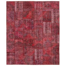 Handwoven Oriental Red Decorative Large Patchwork Rug