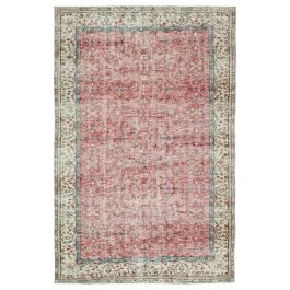 Hand-knotted Turkish Red Vintage Area Rug