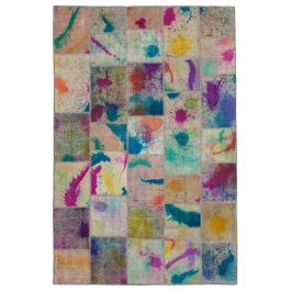 Hand-knotted Oriental Multi Traditional Patchwork Carpet