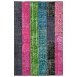Handwoven Turkish Multi Traditional Patchwork Rug