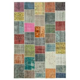 Hand-knotted Anatolian Multi Antique Patchwork Carpet