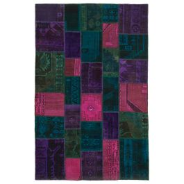 Hand-knotted Turkish Multi Bohemian Patchwork Carpet