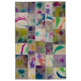 Hand-knotted Turkish Multi Traditional Patchwork Rug
