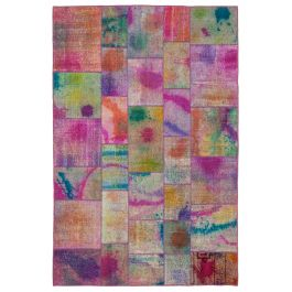 Hand-knotted Oriental Multi Antique Patchwork Rug