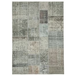 Hand-knotted Anatolian Grey Antique Patchwork Carpet