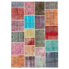 Handmade Oriental Multi One-of-a-Kind Patchwork Rug