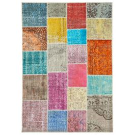 Hand-knotted Oriental Multi Antique Patchwork Carpet