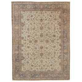 Hand-knotted Turkish Red Bohemian Vintage Carpet