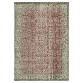 Hand-knotted Oriental Red Antique Vintage Rug