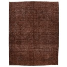 Handwoven Oriental Brown Decorative Large Overdyed Rug