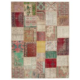 Hand-knotted Anatolian Multi Rustic Large Patchwork Carpet