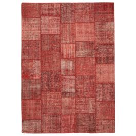 Hand-knotted Oriental Red Traditional Large Patchwork Carpet