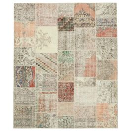 Hand-knotted Turkish Multi Unique Large Patchwork Rug