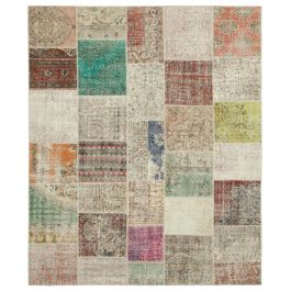 Hand-knotted Anatolian Multi Wool Large Patchwork Rug