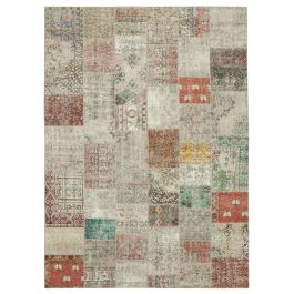 Handmade Oriental Multi One-of-a-Kind Large Patchwork Rug